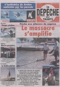 couverture du journal La Dépêche de Tahiti